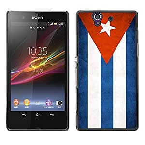 YOYO Slim PC / Aluminium Case Cover Armor Shell Portection //Cuba Grunge Flag //Sony Xperia Z L36H