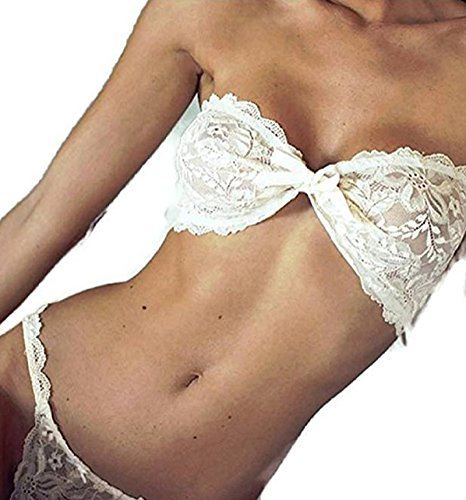 NEW! Women Sexy Lingerie Set White Lace Erotic Bra Lingerie Sexy Hot Erotic Sexy Babydoll Underwear Nightwear Sleepwear G-string (Freesize, (Sexy Costumes For Guys)