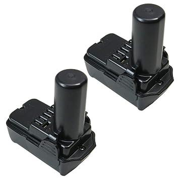 2x Trade-Shop Akku 10,8V 2000mAh  Li-Ion für Hitachi WH10DCL WH10DL WH10DFL