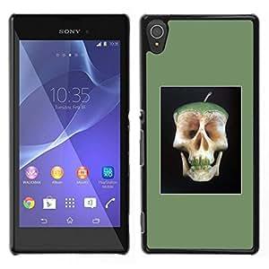 Caucho caso de Shell duro de la cubierta de accesorios de protección BY RAYDREAMMM - Sony Xperia T3 - Manzana doctor Away Muerte Cráneo Core