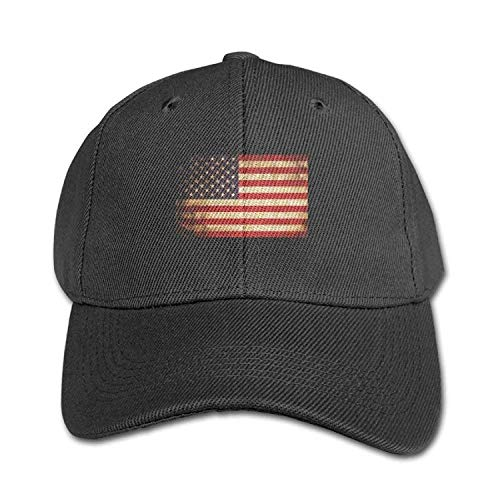 (QKBUY USA Flag Pure Color Baseball Cap Cotton Adjustable Adult Boys Girls Hat)