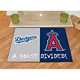 "MLB House Divided Novelty Rug Rug Size: 2'10"" x 3'9"", MLB Team: Los Angeles Dodgers - Anaheim Angels"