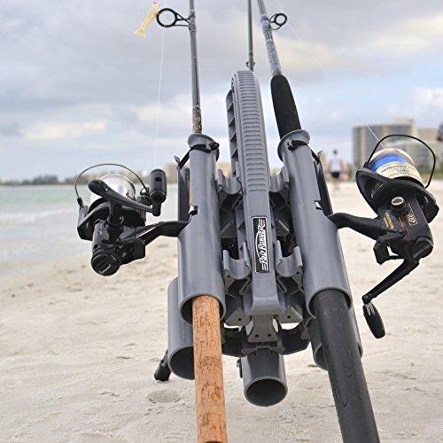 Rod runner pro fishing rod rack gray portable fishing for Fishing rod roof rack tube