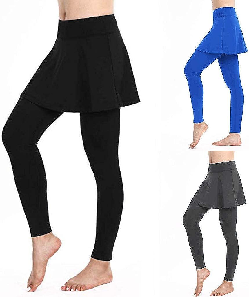 Pilates Jupette Legging Femme Sport Legging de Compression Convient pour Tennis Yoga lentra/înement et Course /à Pied Pantalon Grande Taille S-XL Sunenjoy