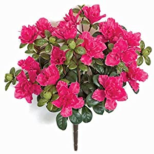 16 Inch Outdoor Azalea Bush - Beauty Polyblend UV Foliage 6