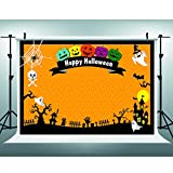 Maijoeyy 7x5ft Children Halloween Photography Backdrop Ghost Castle Happy Halloween Photo Backdrop Background Studio Decorations YZC-HJ02395-D1