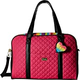 Luv Betsey Women's Cruzin Cotton Weekender w/A Luggage Pass Through On The Back Multi Faux/Green One Size