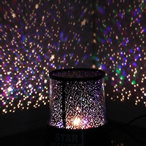 Aeeque Amazing Romantic LED Night Light Projector Lamp, Colorful Star Master Light, Bedside Lights(with USB Cable)