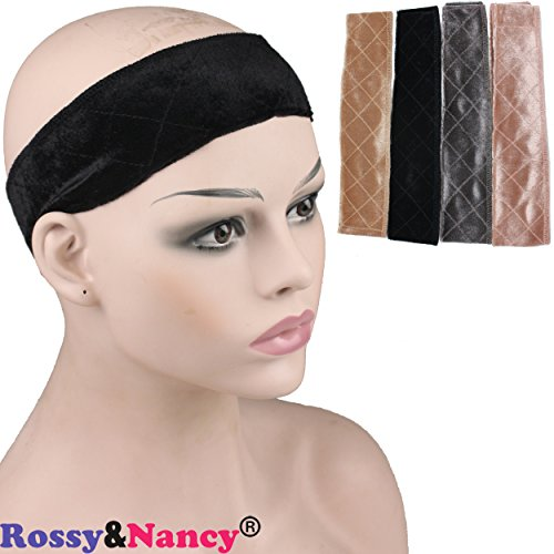 Rossy&Nancy Makeup Velvet Headband Comfort Wig Grip Scarf Head Hair Band Adjustable Fastern for Women - Headband Barrier
