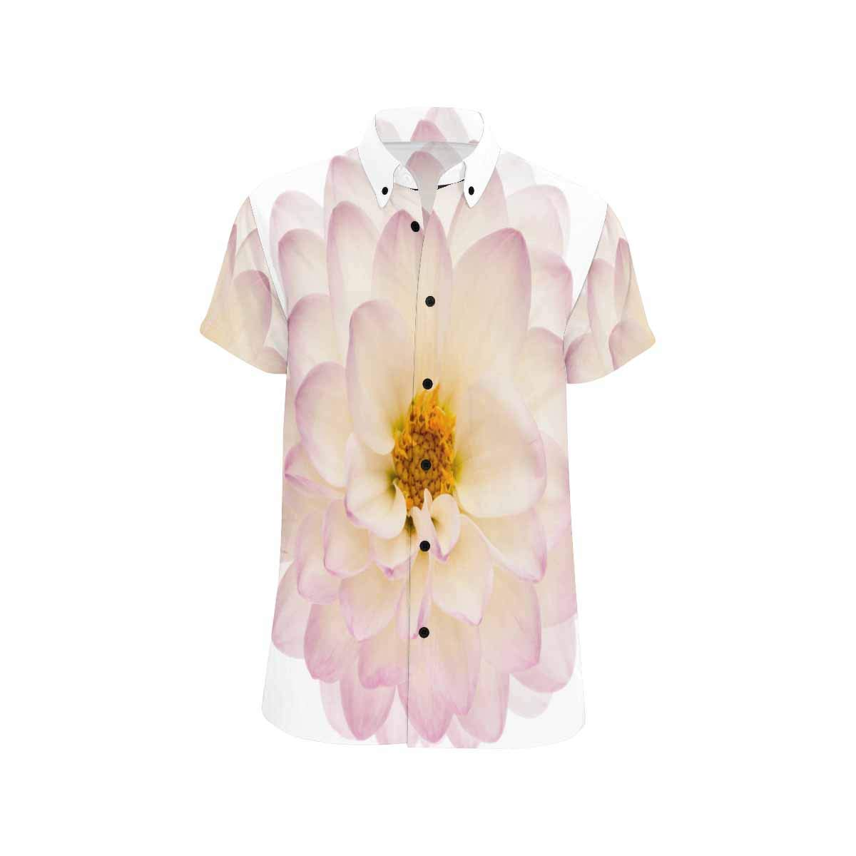 InterestPrint Fashion Printed White and Black Flowers Stand Collar Casual T-Shirt Beach Tops S-5XL