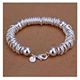 NYKKOLA Beautiful Jewelry 925 Solid Silver Classic Hoop Bangle Bracelets For Women Mens