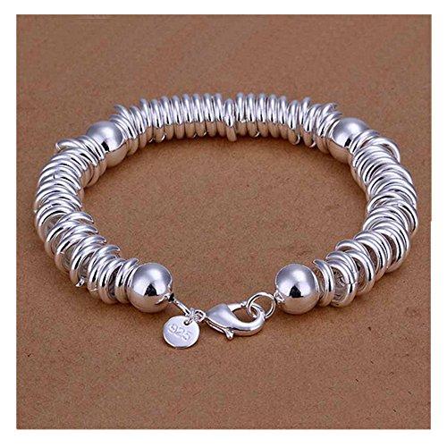 NYKKOLA Beautiful Jewelry 925 Solid Silver Classic Hoop - Men 925 Silver Bracelet