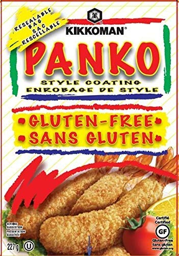 - Kikkoman Gluten Free Panko Bread Crumbs, 227g/8oz. (Imported from Canada)