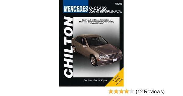 mercedes benz c class chilton s repair manual chilton