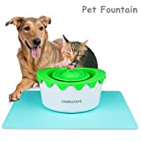 LOGROTATE Cat Fountain - Automatic Circulating 1.8L Pet Cat Water Dispenser with ADJUSTABLE WATER PUMP & Two Filters - Healthy Hygienic Dog Fountain Drinking Pet Water Fountain for Cats Dogs Animal