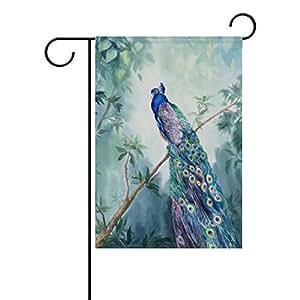 ColourLife - Bandera de pavo real para jardín, vacaciones, jardín, casa, 30 x 45 cm, decoración para el hogar, interior y exterior
