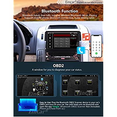 EinCar Android 9.0 Single Din Car MP5 Player 7inch GPS Navigation System 1 Din Car Radio Capacitive Muti-Touch Screen Bluetooth 1Din Stereo Support Mirror Link FM AM RDS WiFi 4G SWC USB SD CAM-in: Automotive