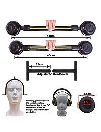 2 unidades de auriculares inalámbricos IR para coche DVD TV, 2 canales para coche para niños con cable auxiliar de 0.138 in, auriculares para coches y niños