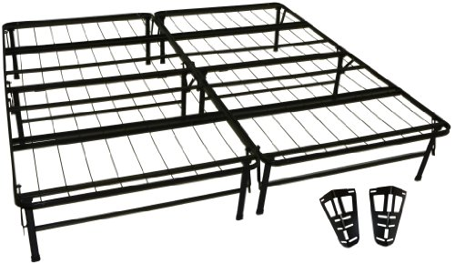 DuraBed Steel Foundation & Frame-in-One Mattress Support System Foldable Bed Frame with Headboard Attaching Brackets, King - Make King Size Headboard