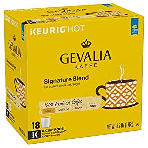 Gevalia Signature Blend Coffee, Mild Roast, K-Cup Pods, 18 Count