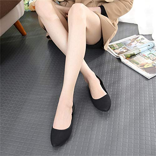 breathable non pregnant mouth shoes flat slip FLYRCX shoes work ladies autumn office Spring frosted shallow shoes women and elegant suede E wx0BOx8q