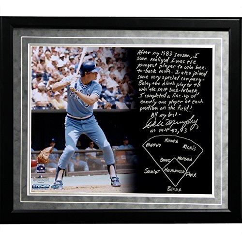 MLB Atlanta Braves Framed 16x20 Dale Murphy Facsimile 'Back-to-Back MVPs' Story Photo