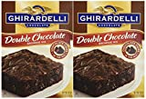 Ghirardelli Chocolate DOUBLE CHOCOLATE Brownie Mix 18oz. (2 Boxes)