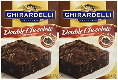 Ghirardelli Cake - Ghirardelli Chocolate DOUBLE CHOCOLATE Brownie Mix 18oz. (2 Boxes)
