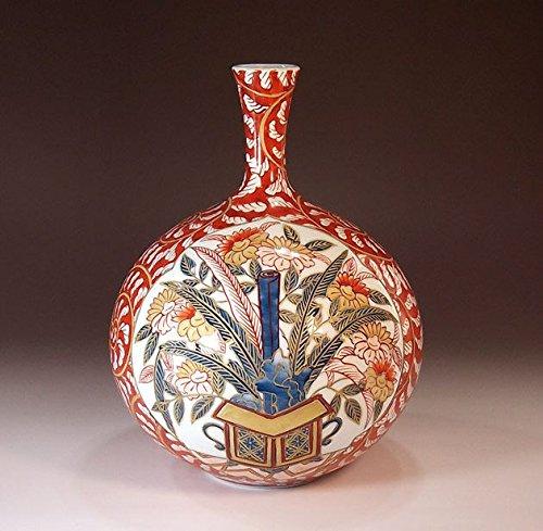 有田焼伊万里焼の陶器花瓶古伊万里|贈答品|ギフト|記念品|贈り物|陶芸家 藤井錦彩 B00LHC4M5Y