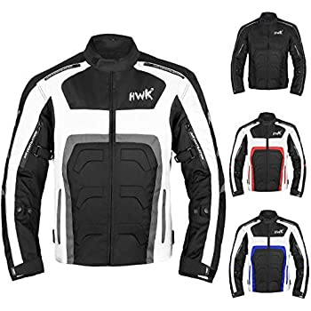 Textile Motorcycle Jacket For Men Dualsport Enduro Motorbike Biker Riding Jacket Breathable CE ARMORED WATERPROOF (Grey, L)
