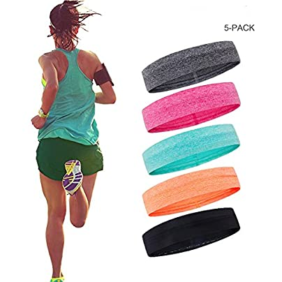 O sports Sports Headband Sweatband Sweat Wicking Headband Athletic Wristbands for Men and Women Yoga Running Sport Fitness Workout Pack Estimated Price £19.44 -