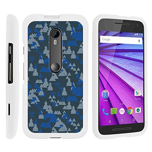 Motorola Moto G 3rd Gen, Stylish Personalized Protective Snap On Hard Case Phone Protector for Motorola Moto G (2015) XT1540, XT1548 by MINITURTLE - Frozen Forest