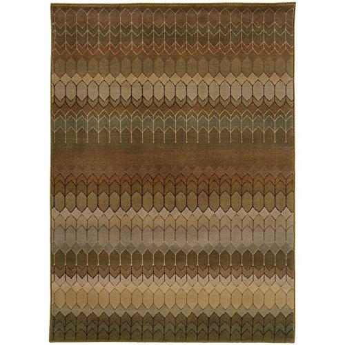 Oriental Weavers 4455A Casablanca Area Rug, 1-Feet 10-Inch by 3-Feet 3-Inch, Brown/Green
