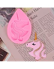 Silicone Fondant Mold (Unicorn |2-1/2''x3-5/8'') for Cake Decorating,Chocolate Clay Mould