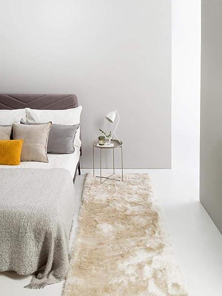 Bettumrandung hochflor Teppich,Schlafzimmerteppich,Langflor Bunt,Rechteckig