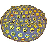Ahh! Products Emojis Fleece Washable Large Bean Bag Chair Plush
