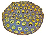 Product review for Ahh! Products Emojis Fleece Washable Large Bean Bag Chair Plush