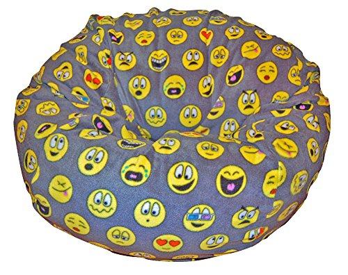 (Ahh! Products Emojis Fleece Washable Large Bean Bag Chair Plush)