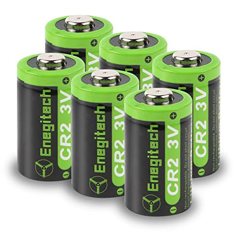 Enegitech CR2 3V Lithium Battery 800mAh 6 Pack with PTC