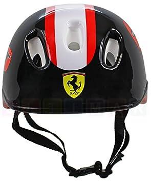Ferrari: Casco para niños y adolescentes, 56-60 cm Negro