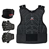 Maddog Pro Trio Padded Chest Protector Combo Package - Black - Large / X-Large