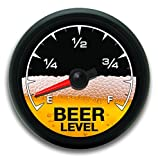 215 Decals Black Beer Meter level Vinyl Sticker Decal Cup Cooler Refrigerator Keg Gauge