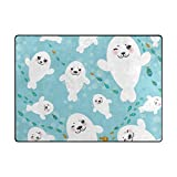 Vantaso Funny White Seal Pups Soft Foam Play Mat for Children Non Skid Game Area Rugs Kids Bedroom Playroom Nursery Decor 80 x 58 Inch