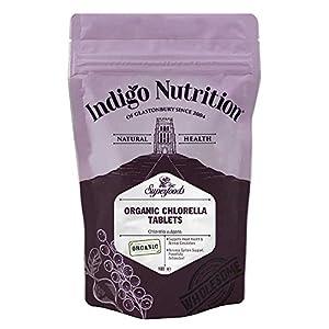 Indigo Herbs Compresse di Chlorella Bio - 100 compresse (500mg) 12 spesavip