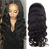 BeliHair 22 inch Virgin Lace Front Human Hair Wigs with Baby Hair 130% Density Natural Color Body Wave Hair Replacement Wigs for Black Woman
