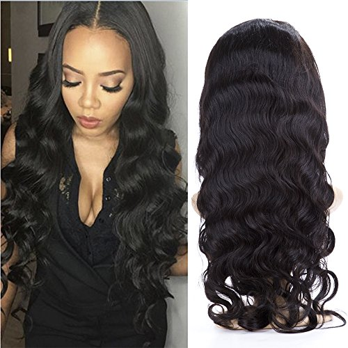 BeliHair 22 inch Virgin Lace Front Human Hair Wigs with Baby Hair 130% Density Natural Color Body Wave Hair Replacement Wigs for Black Woman by Belihair