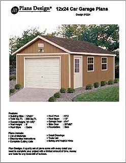 12u0027 X 24u0027 Car Garage Project Plans  Design #51224