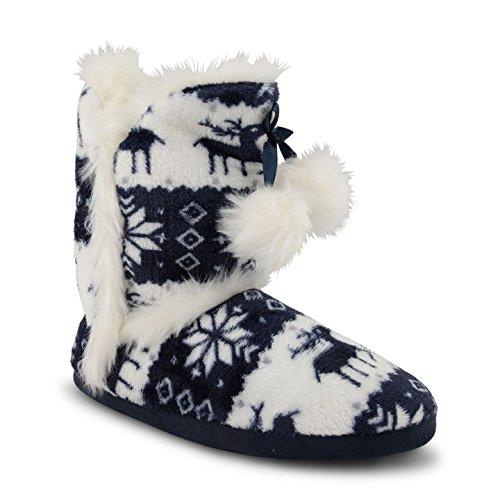 Dunlop - Zapatillas de estar por casa para mujer 7900 Navy