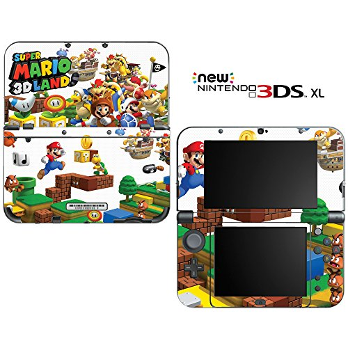 Super Mario 3D Land Decorative Video Game Decal Cover Skin Protector for New Nintendo 3DS XL (2015 Edition) (New Nintendo 3ds Super Mario 3d Land Edition)