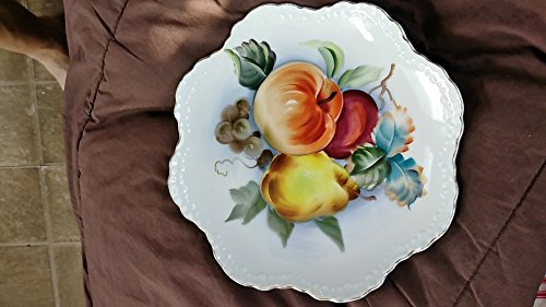 Lefton china hand painted fruit plate (Hand Painted China Plate)